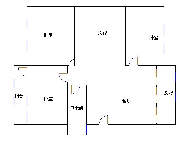 农业银行宿舍 2室2厅 双证齐全 简装 59万