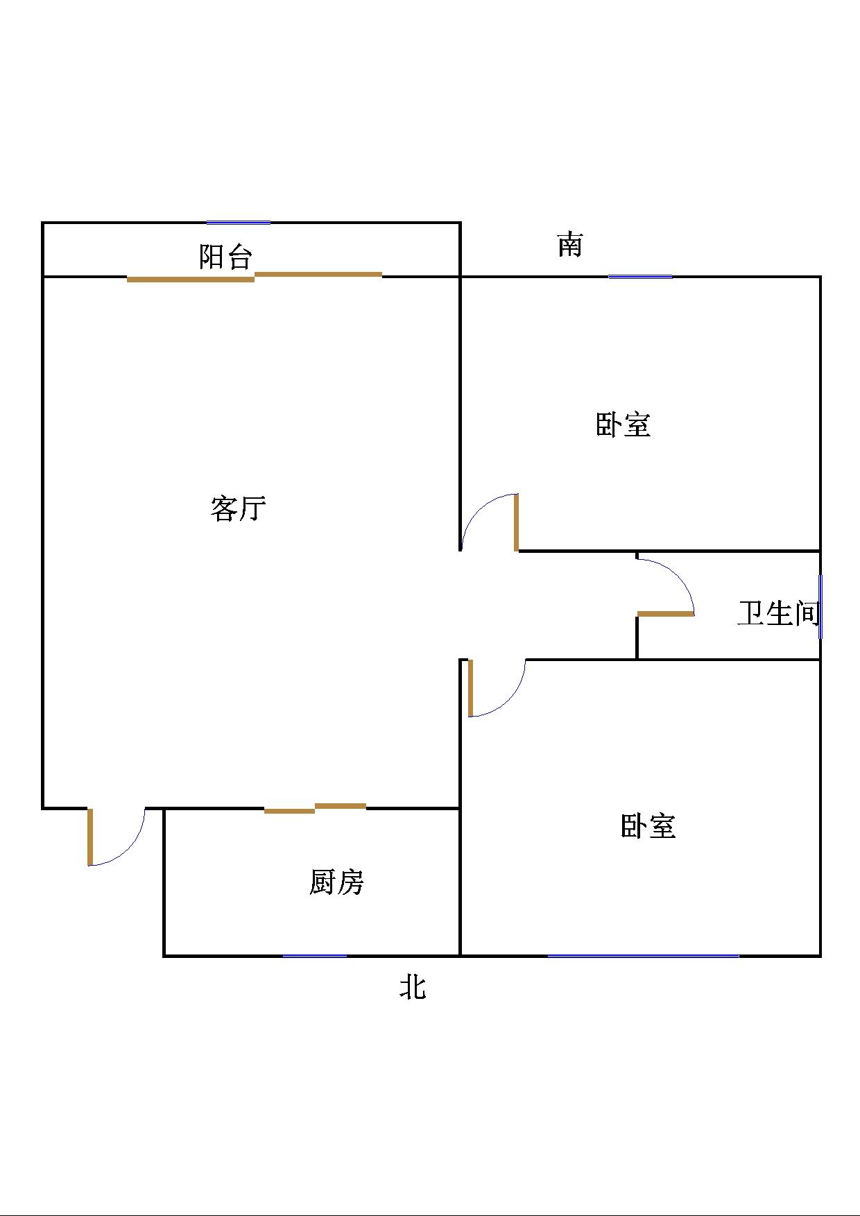 陈公庄园 2室2厅  简装 46万