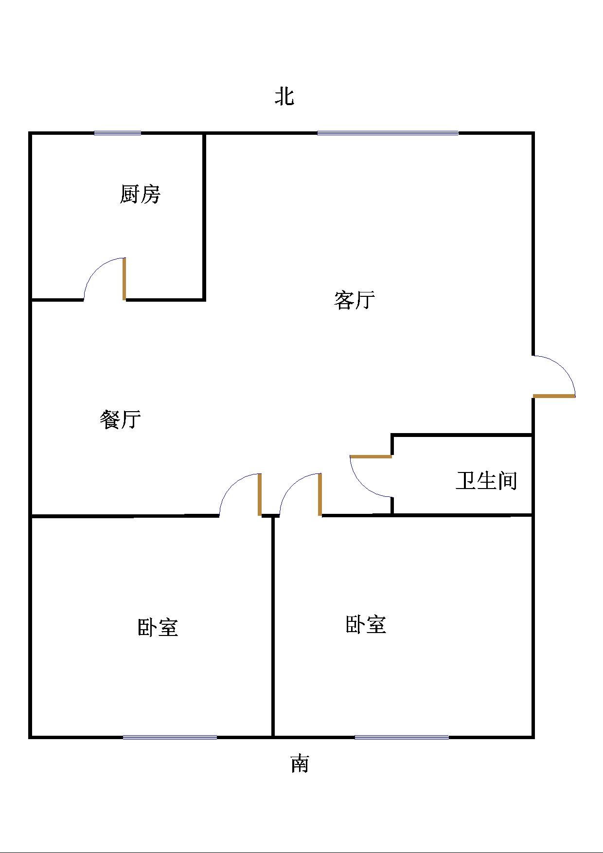 苗庄小区 2室2厅  中装 48万