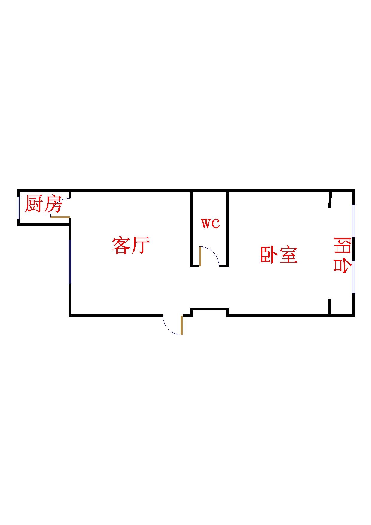 东风家园 1室1厅  简装 40万