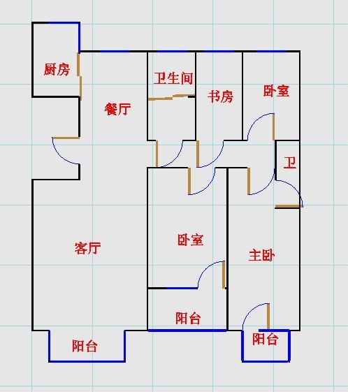 未来城 4室2厅  毛坯 260万