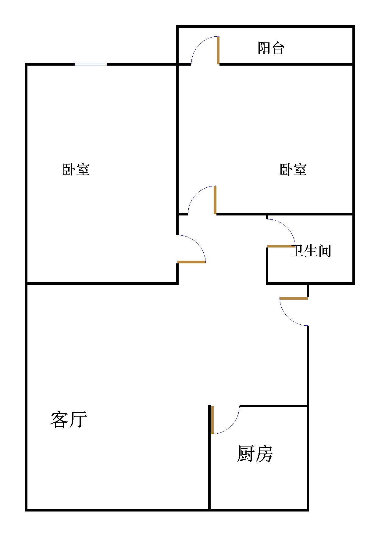 金卉小区 2室1厅  简装 32万