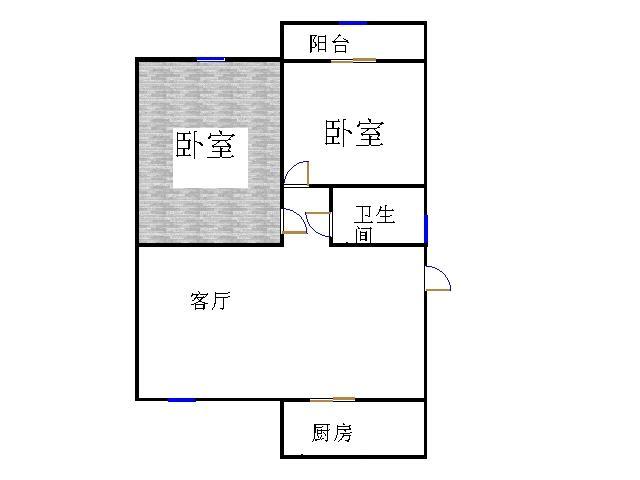 锦苑 2室1厅 过五年 简装 37万