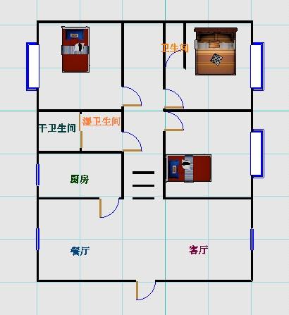 工商分局宿舍(开发区) 3室2厅  简装 120万