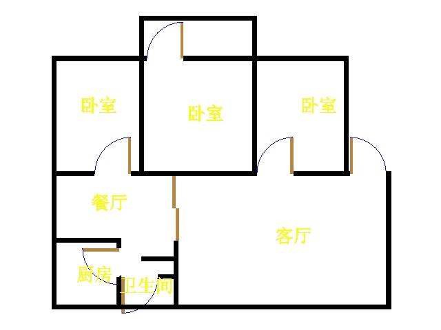 新华路小区 3室2厅 双证齐全过五年 精装 75万