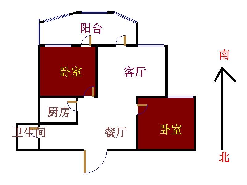 东方明珠小区 2室2厅 9楼