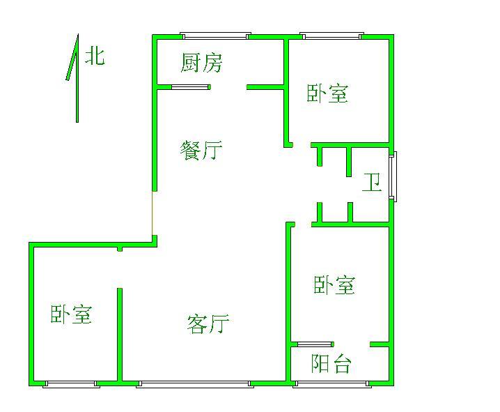 天钰铭城 3室2厅 双证齐全 精装 155万