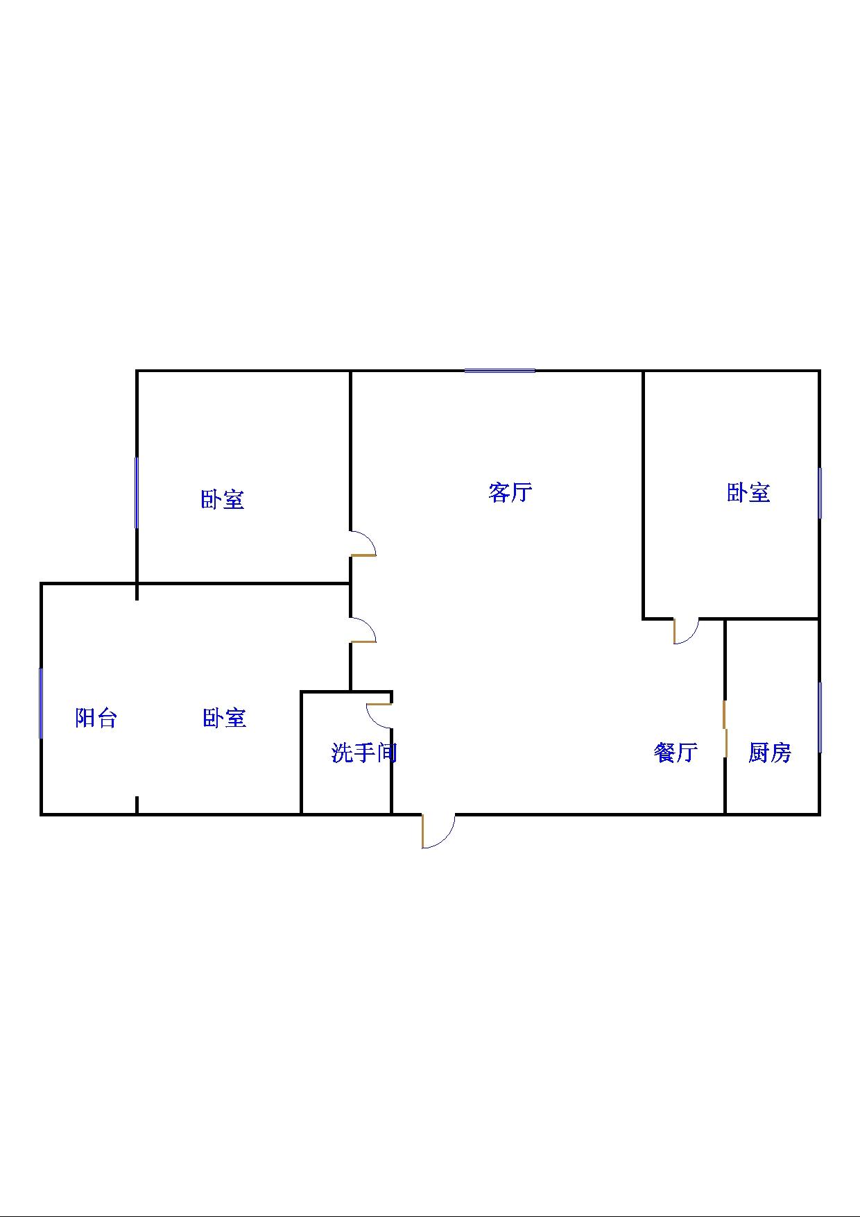 天勤高科 3室2厅  简装 48万