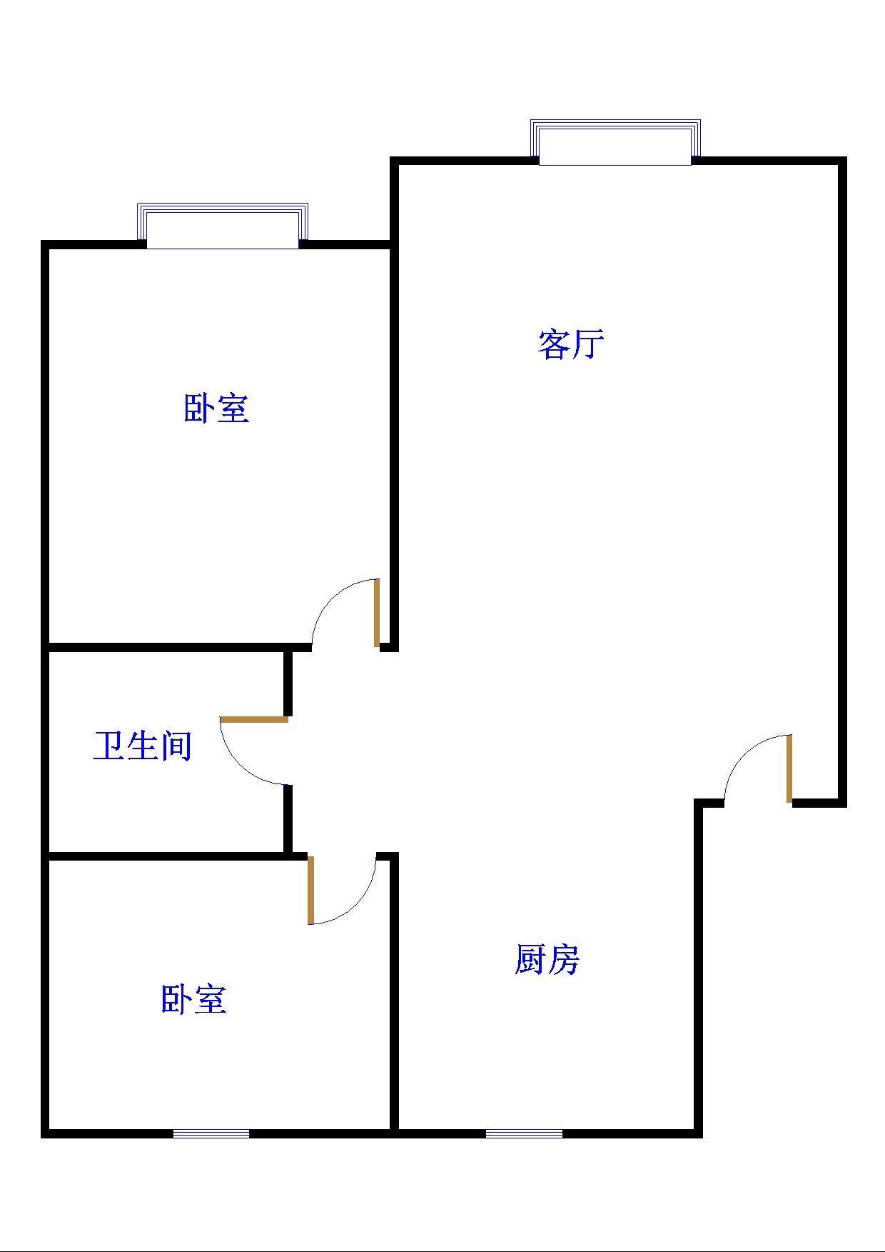 锦苑 2室2厅  精装 90万