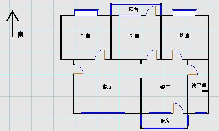 市政公司宿舍 3室2厅  精装 55万
