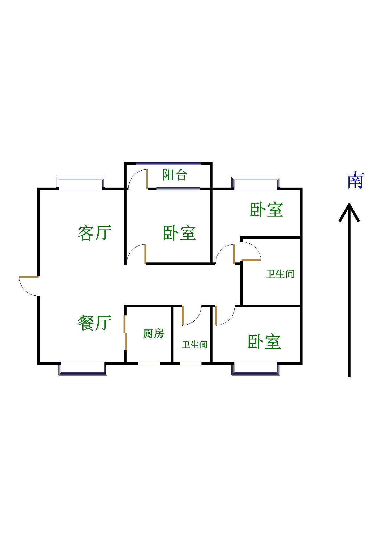 跃华中学宿舍 3室2厅 过五年 简装 60万