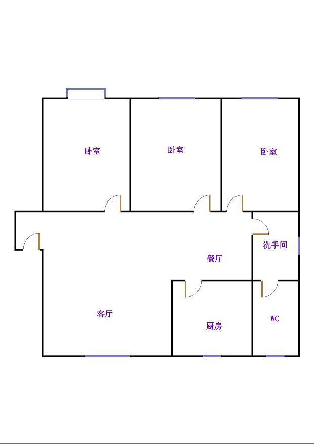 岔河紫薇园 3室2厅 双证齐全过五年 精装 195万
