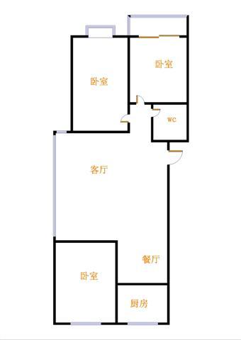 鑫苑小区 3室2厅 双证齐全 简装 36万