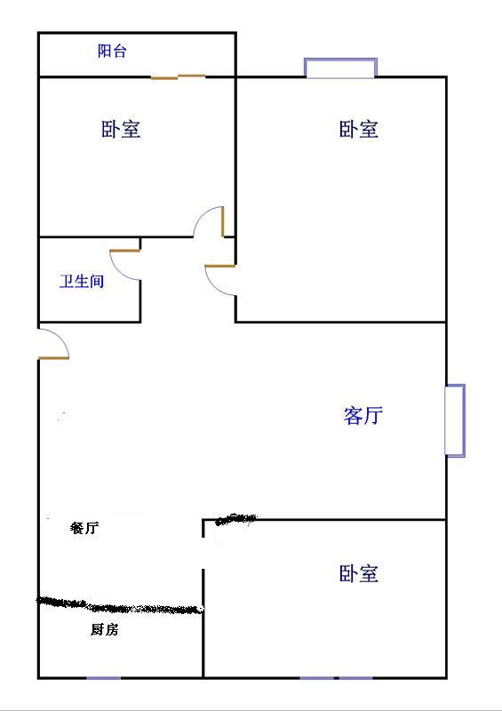 北苑新邸 3室2厅 双证齐全 精装 105万