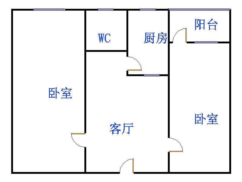 化肥厂宿舍 2室1厅 双证齐全过五年 简装 21万