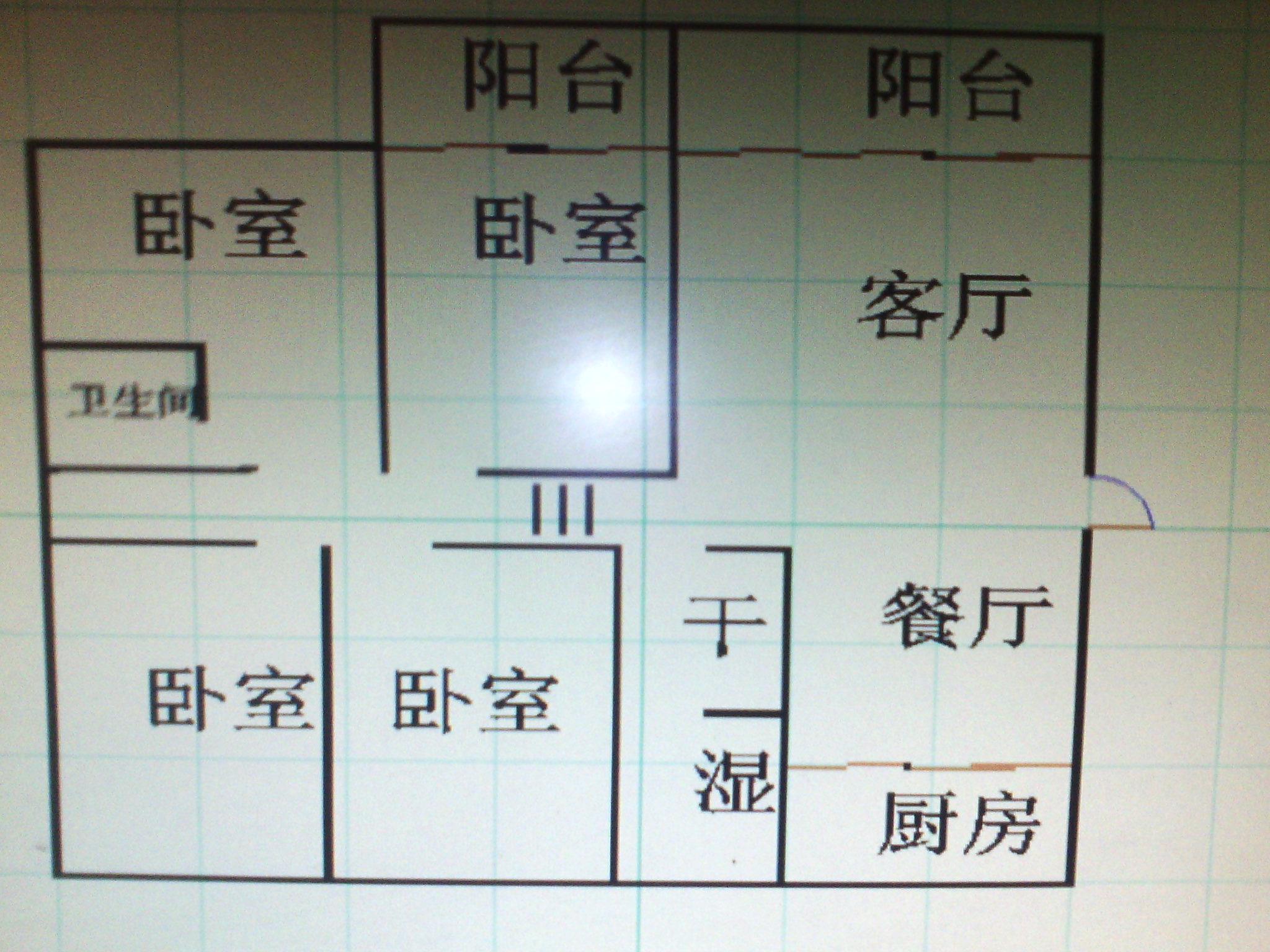 工商分局宿舍(开发区) 4室2厅  简装 170万