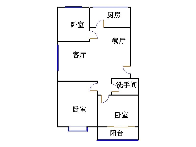 运河鑫城 3室2厅 双证齐全 精装 69万