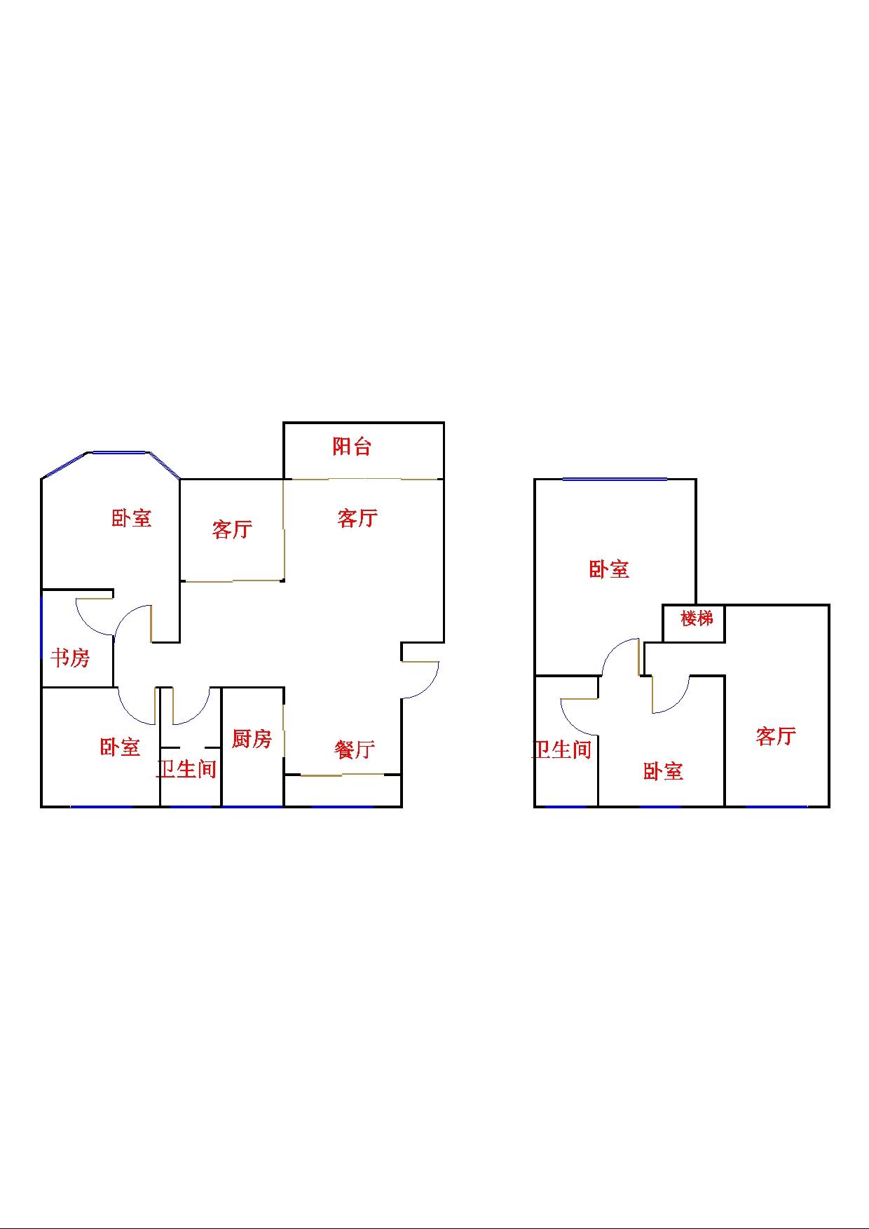 高地世纪城 5室2厅  简装 160万
