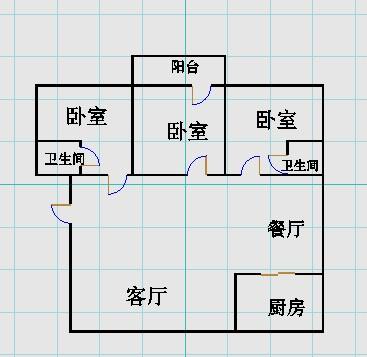 滨海首府 3室2厅 4楼