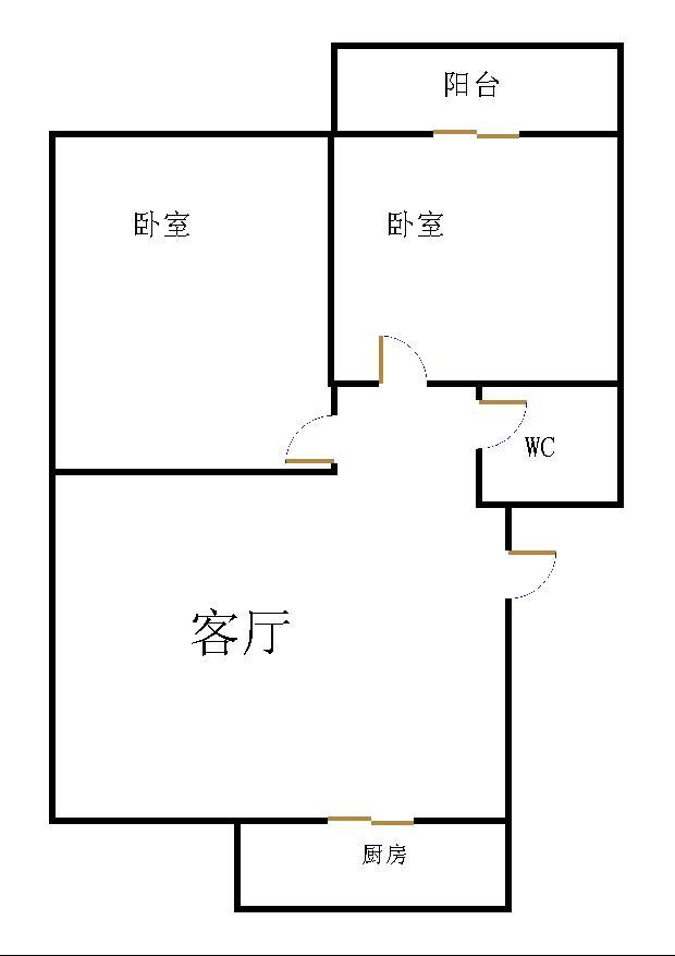 金卉小区 2室1厅 过五年 简装 60万
