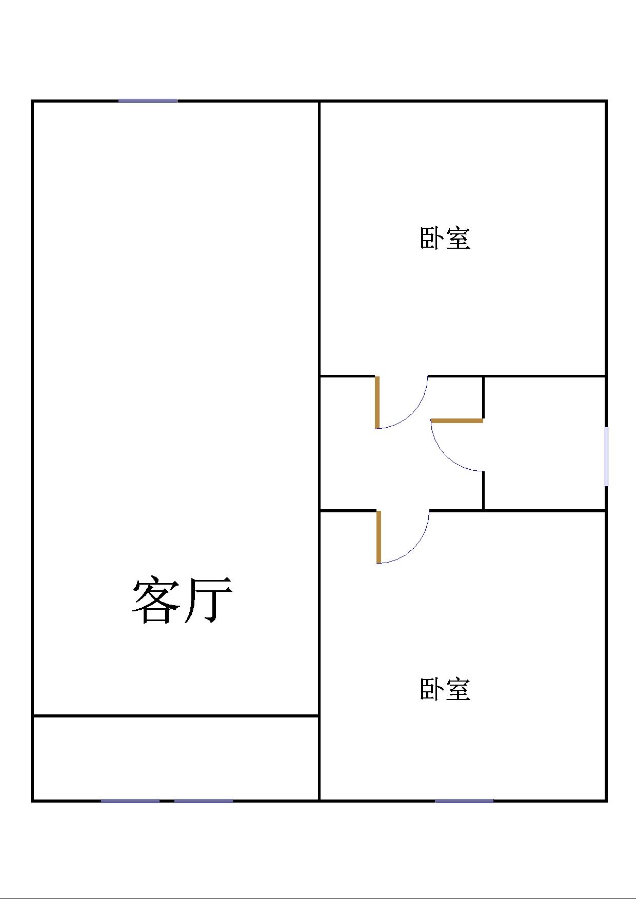 刘集社区 2室2厅 5楼