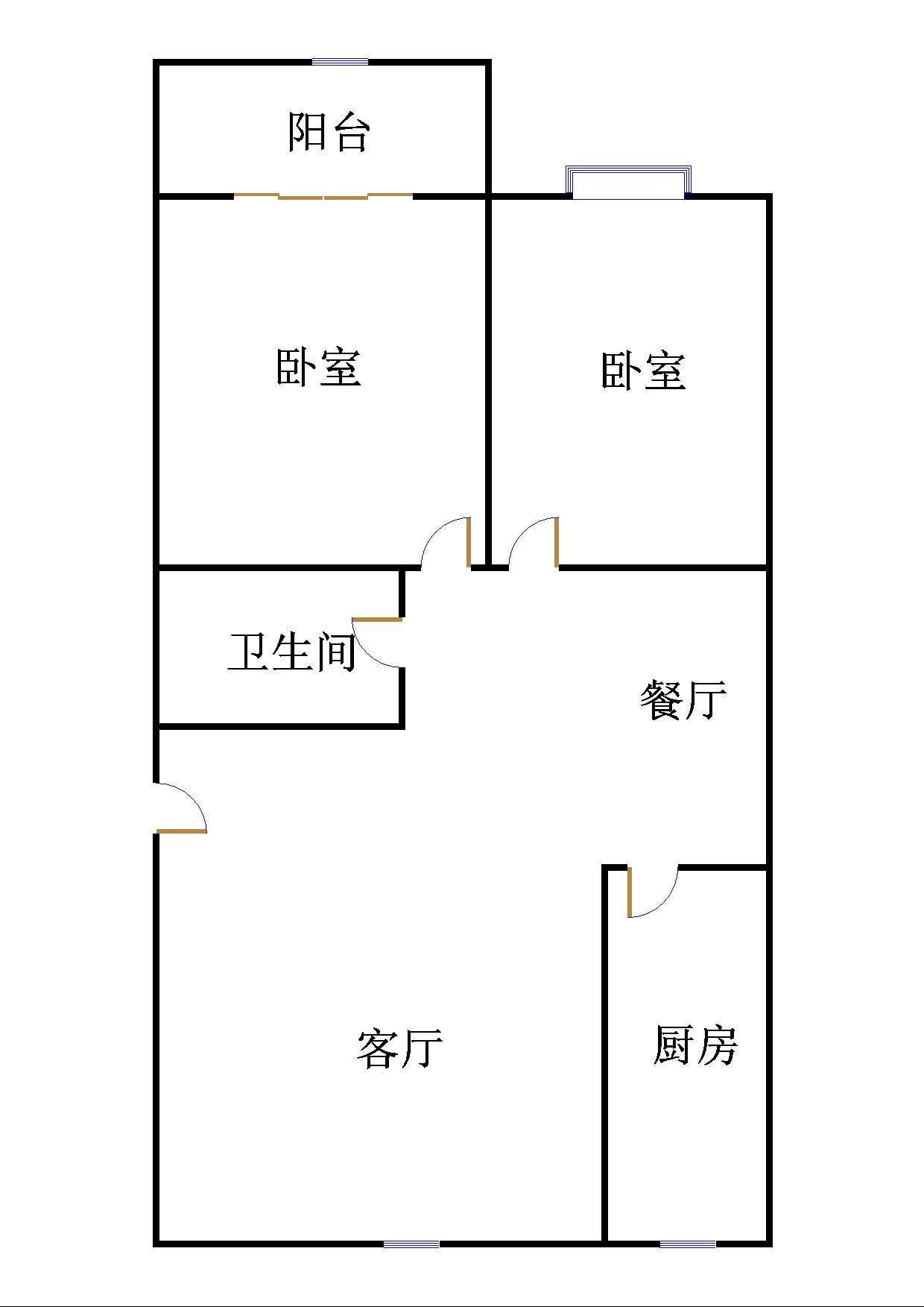 郭家庵小区 2室2厅  简装 32.5万