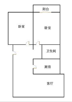 外海.江南水郡 2室1厅  毛坯 85万