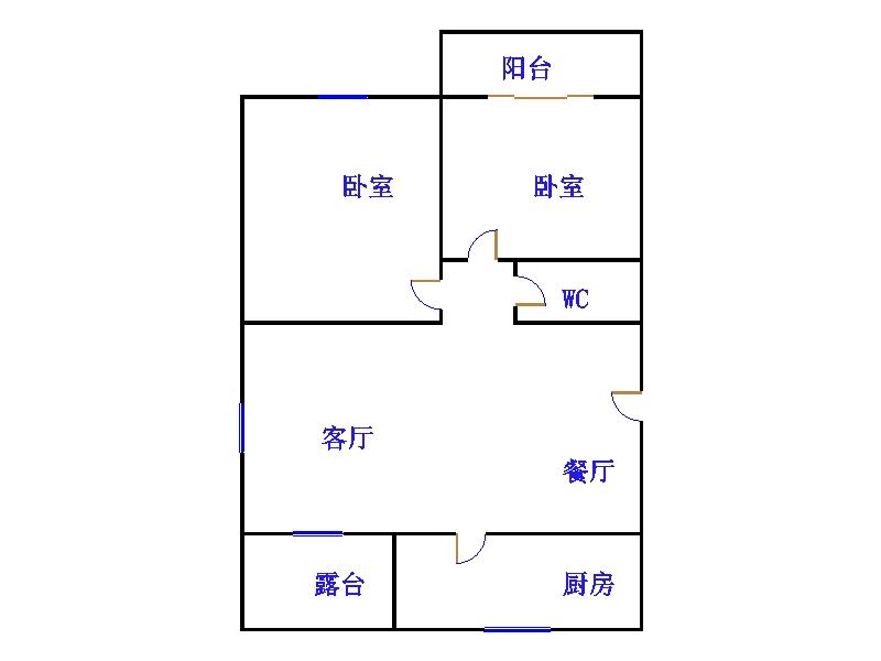 运河鑫城 2室2厅  精装 35万