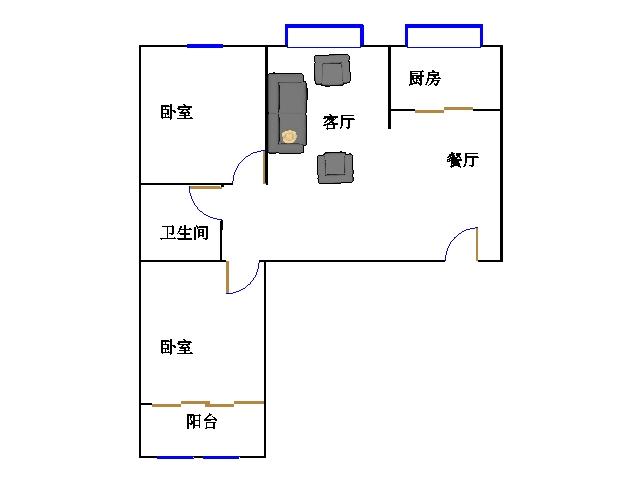 泰和名仕港 2室2厅 双证齐全 简装 93万
