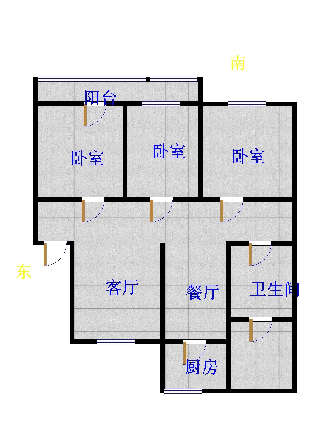 跃华中学宿舍 3室2厅 过五年 精装 58万