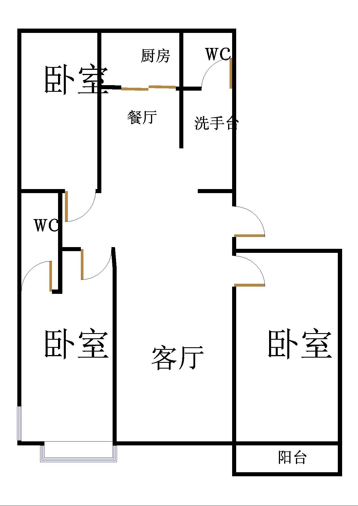金鼎公馆 3室2厅  精装 150万