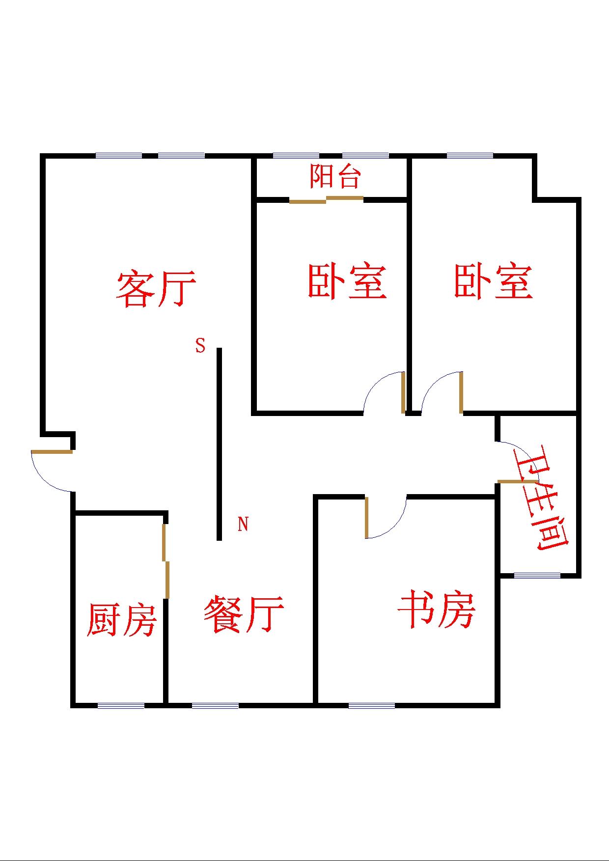 外海.江南水郡 2室2厅  毛坯 48万