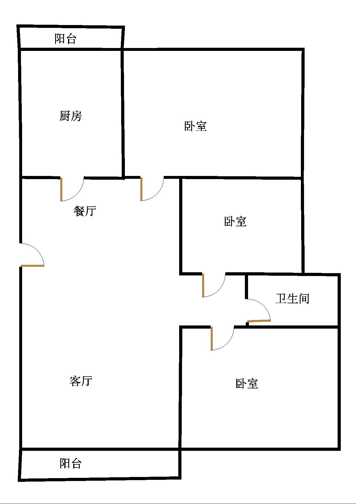 唐人中心 3室2厅  毛坯 160万