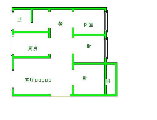 宋官屯小区 3室2厅  简装 72万