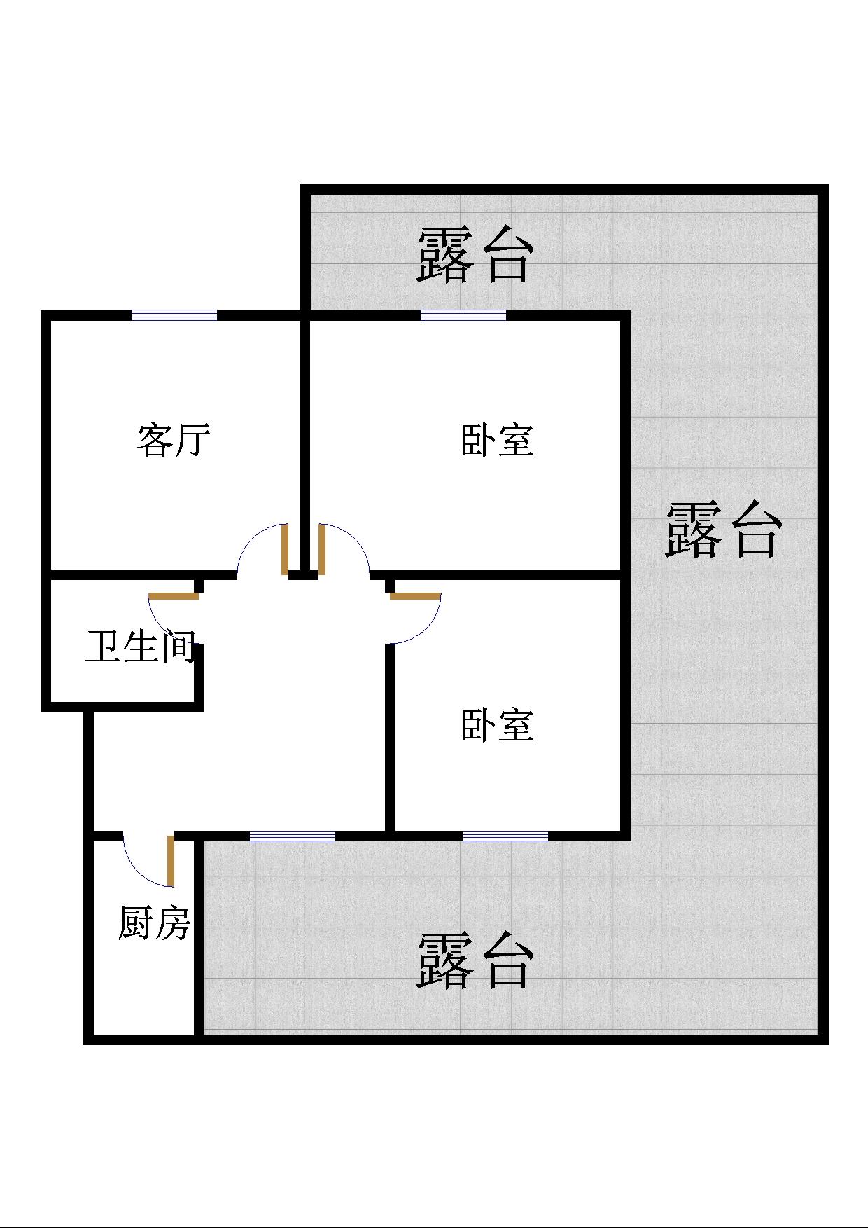 滨海首府 2室1厅  中装 38万