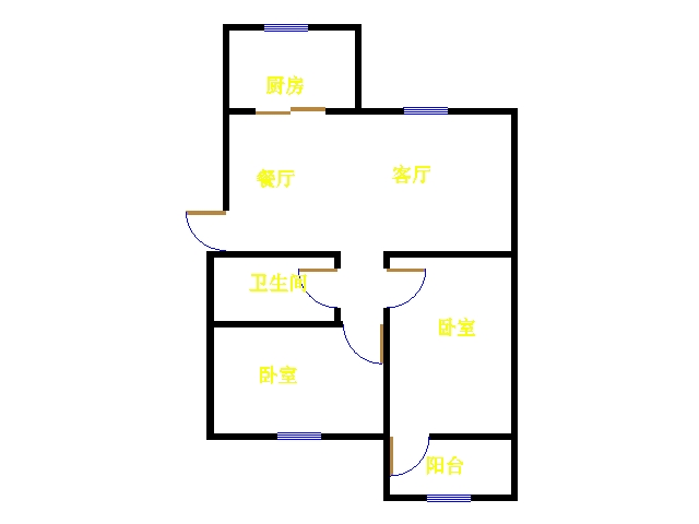 天华锦绣园 2室1厅 双证齐全过五年 精装 96万