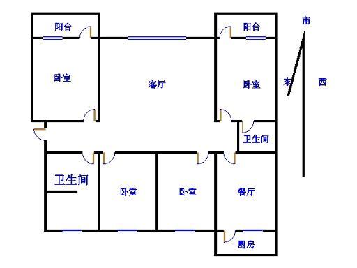 八一小区 3室2厅 双证齐全 简装 155万