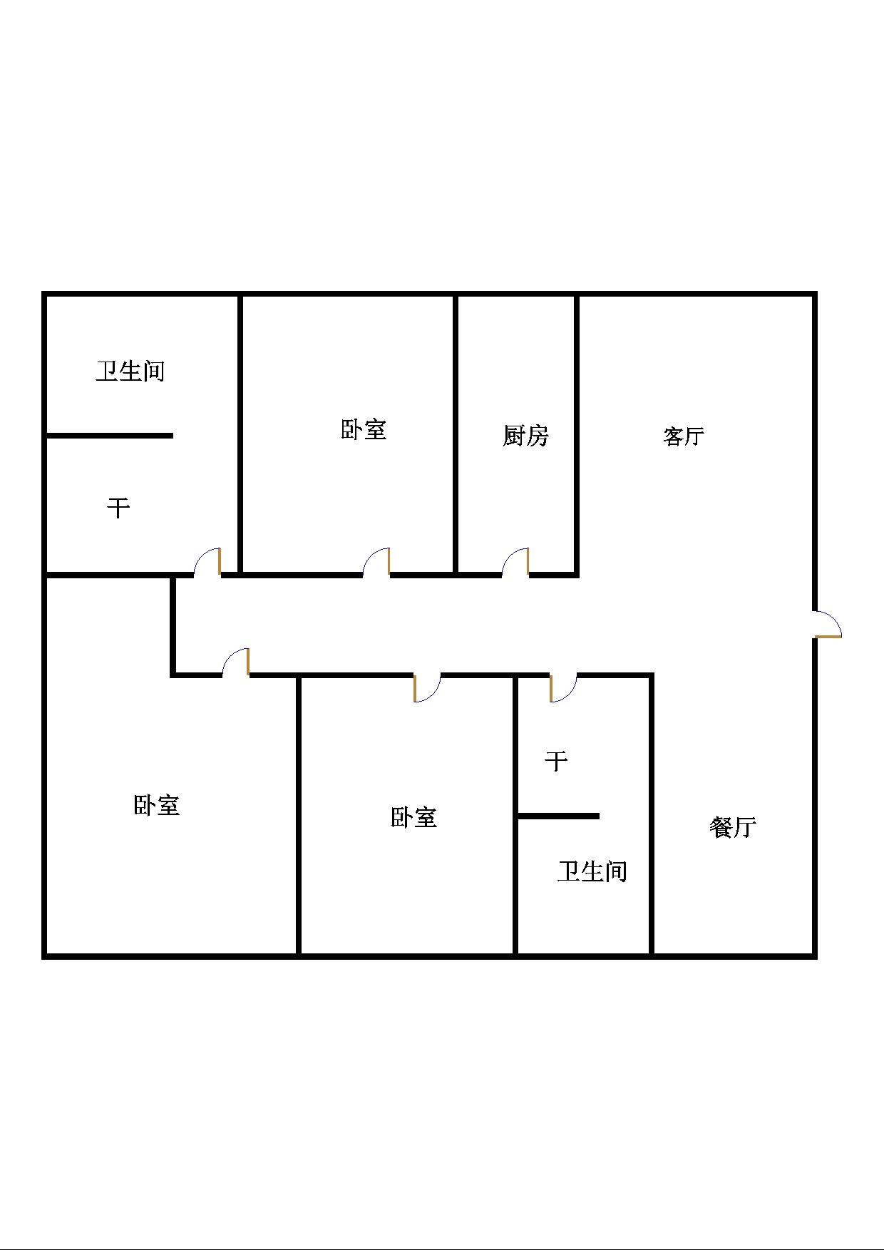 尚城国际 3室2厅  简装 120万