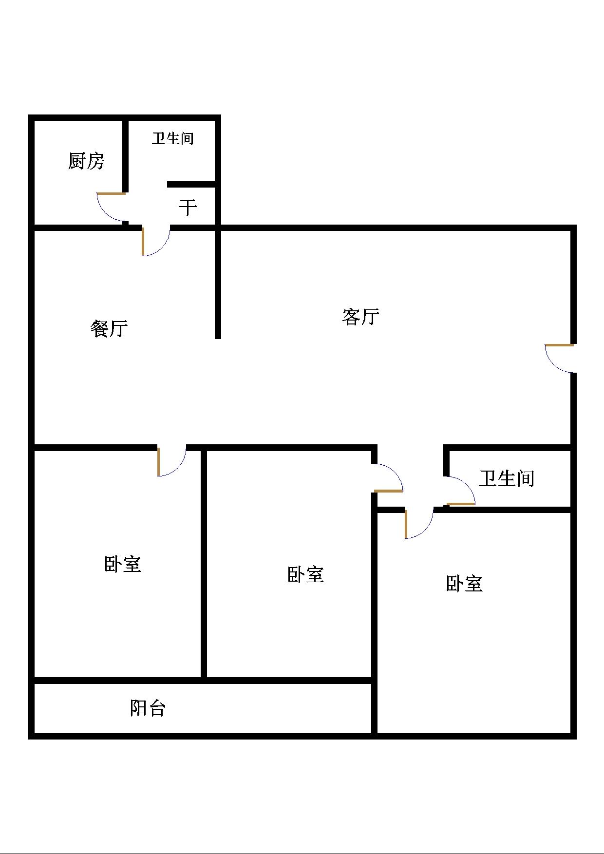 青龙潭小区 3室2厅  简装 123万