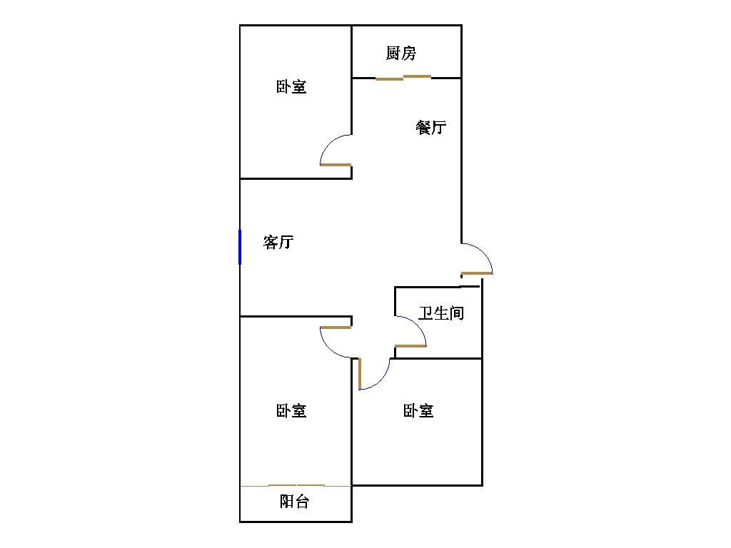 幸福家园 3室2厅  简装 92万