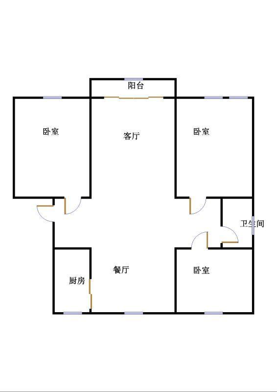 万豪华庭公馆 3室2厅  毛坯 165万