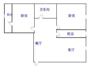尚城国际 2室2厅  精装 80万