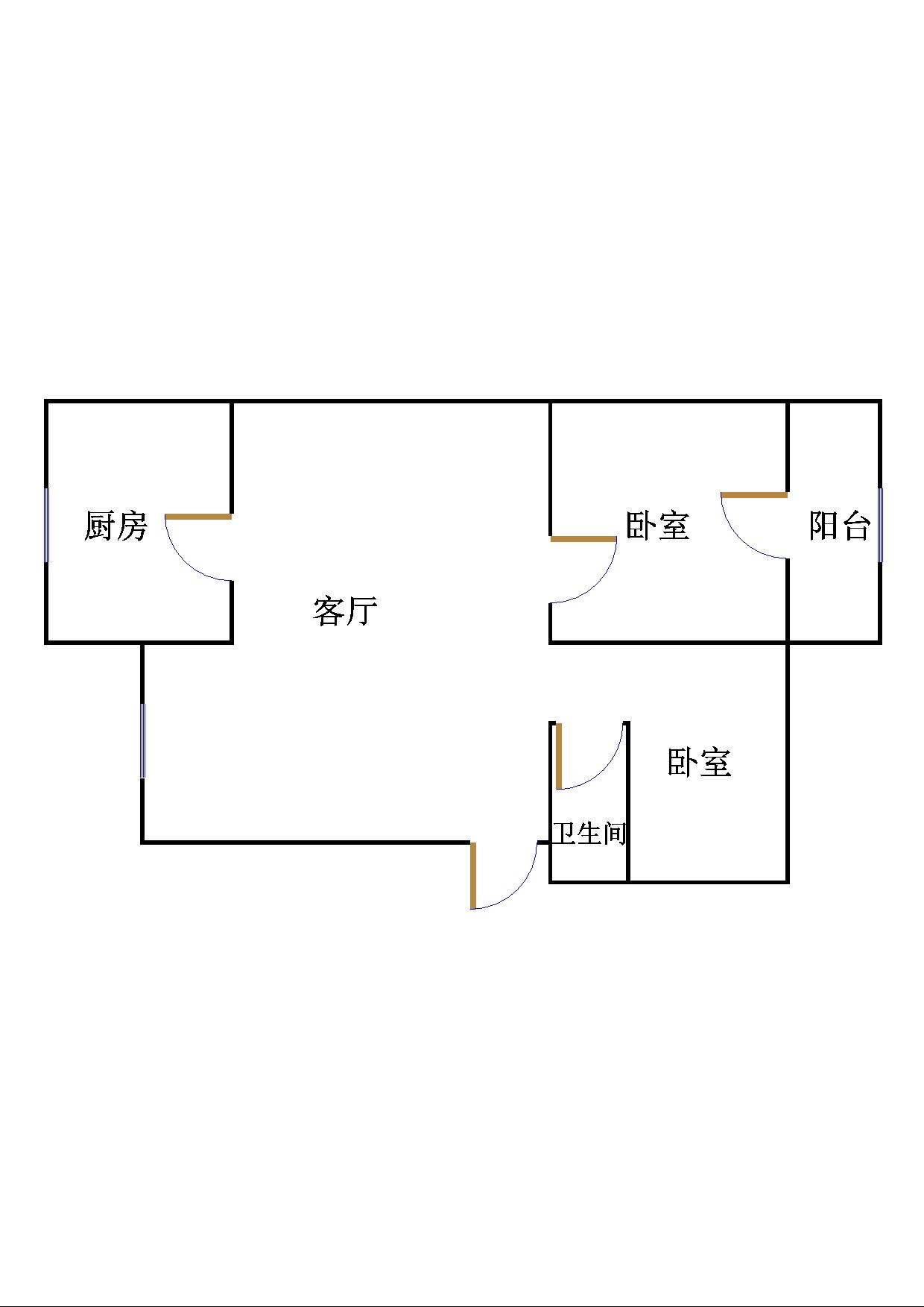 滨海胜利花苑 2室1厅 双证齐全 简装 70万