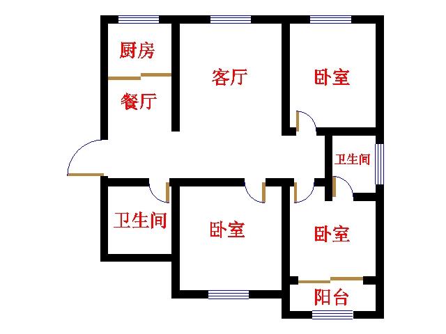 帝景城 3室2厅  毛坯 1.8万