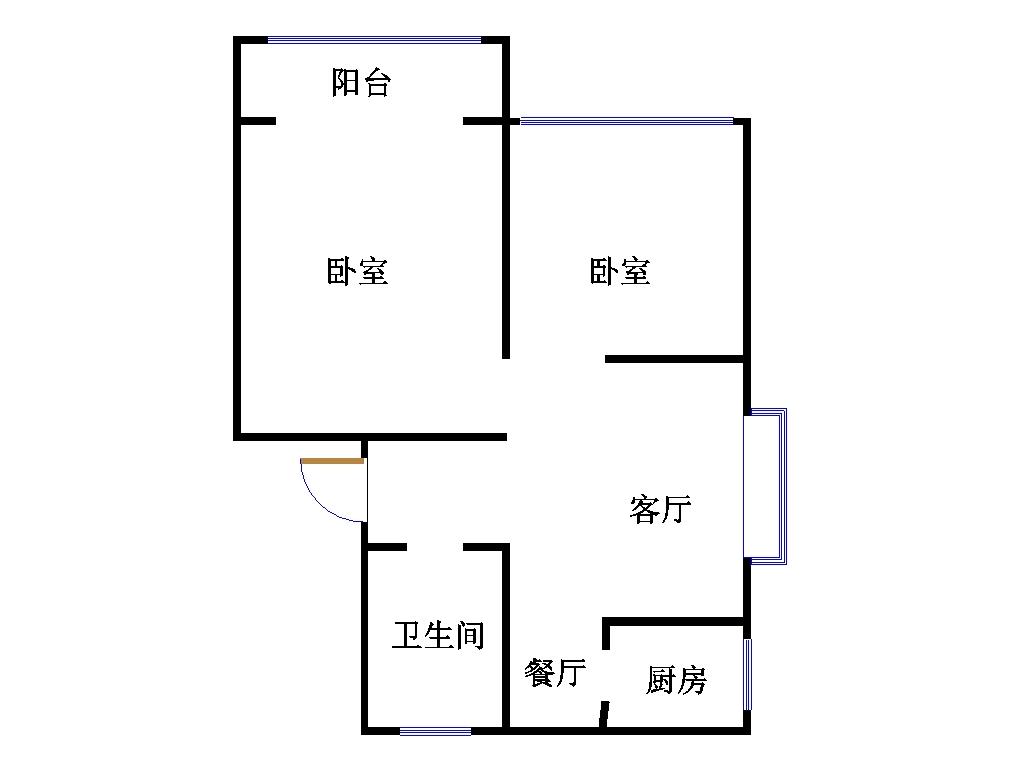 外海.江南水郡 2室2厅  简装 49.5万