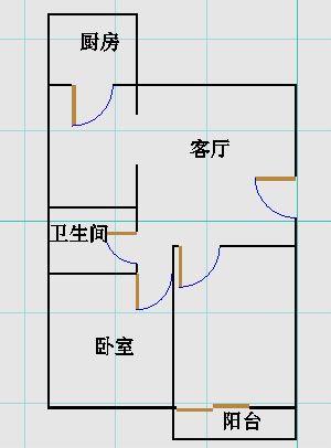 青龙潭小区 2室1厅  简装 90万