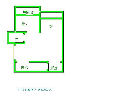 盛和景园 2室2厅  简装 35万