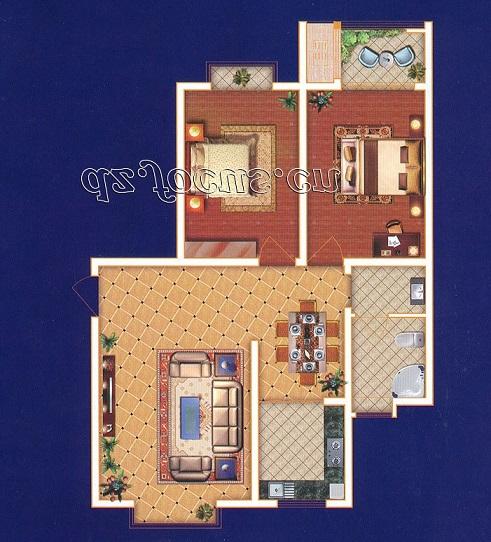 尚城国际 2室2厅  简装 82万
