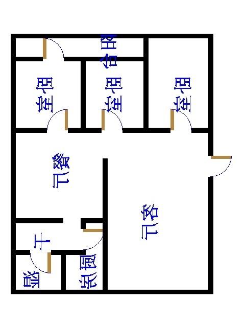 国税局宿舍 3室2厅  精装 75万