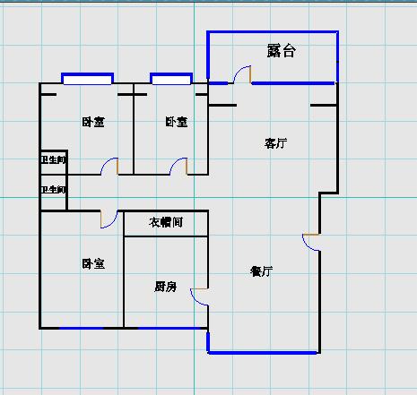 德百玫瑰园 3室2厅  毛坯 180万
